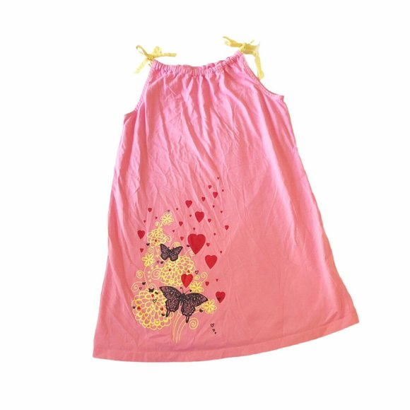 Hanna Andersson Butterfly Hearts Pillowcase Dress
